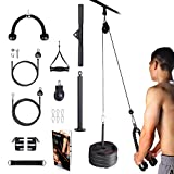 BZK 3 in 1 Upgraded LAT and Lift Pulley System Gym, Pull-Down Machine with Dual Cable Attachments and Upgraded Loading Pin for Exercise Upper Body - Home Fitness Equipment