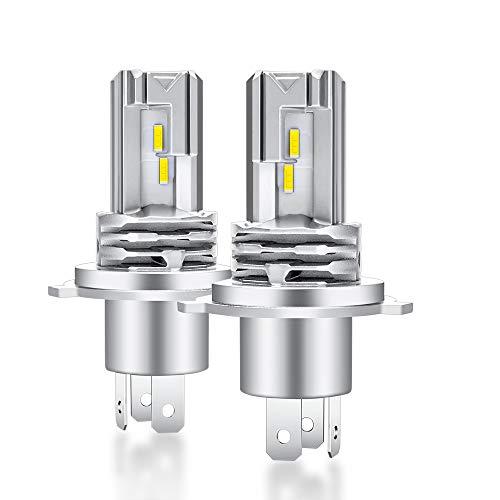H4 LED Lampadina 6500K Sostituzione per Alogena Lampade e Xenon Luci, Per 12-24V Abbaglianti o Anabbaglianti Di Auto Conversione kit 2 Anni Di Garanzia(2 Lampade)