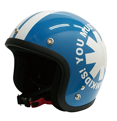 ダムトラックス(DAMMTRAX) バイクヘルメット ジェット ポポウィール ブルー (54cm~57cm未満)