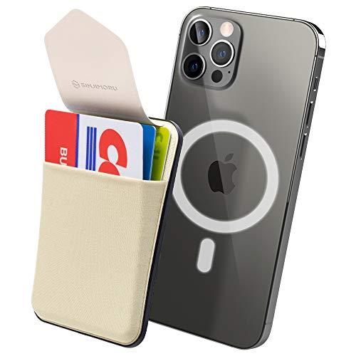Sinjimoru Magsafe対応 iPhoneカードケース、蓋付きマグネット携帯カードホルダー SUICA 定期入れ クレジッ...