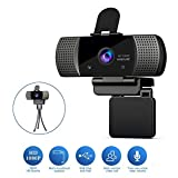 KOGOLIKE Webcam 1080P Full HD avec Microphone, USB 2.0 PC Web Caméra, avec...