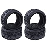 Part & Accessories 4pcs 3.2' Tires Rubber For 1/8 Buggy Diameter 102mm Width:42mm For Off-Road RC Car