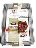 David Burke Kitchen Non-stick Bakeware Oblong Bake Pan 13 x 9 x 2 1/2 inches (SILVER)