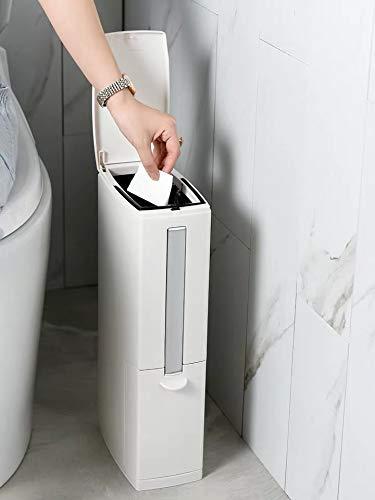 Cq acrylic Slim Plastic Trash Can 1.3 Gallon,Trash can with...