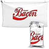 XCNGG Toallas de baño de Secado rápido Toallas de baño para el hogar Toallas Enjoy Bacon Quick Dry Towel 28.7'' x 51','Hotel White Bath Towel Beach Towel