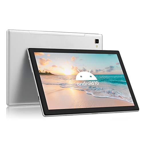 Blackview Tab8 Tablet 4G LTE + WIFI con 10.1'' FHD, Android 10, 4GB RAM + 64GB ROM, 128GB Espandibili, Octa-Core, Batteria 6580mAh, Fotocamera 13MP, 1920*1200,Dual SIM/GPS/Bluetooth/Face ID/OTG-Grigio