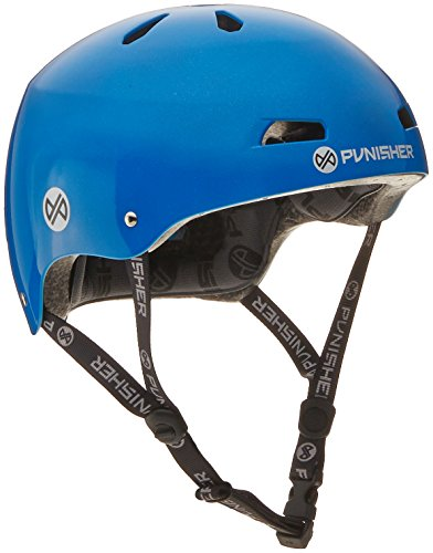 Punisher Skateboards Pro 13-Vent Dual Safety Certified BMX Bike and Skateboard Helmet, Bright Neon Blue, Youth/Teen 9+