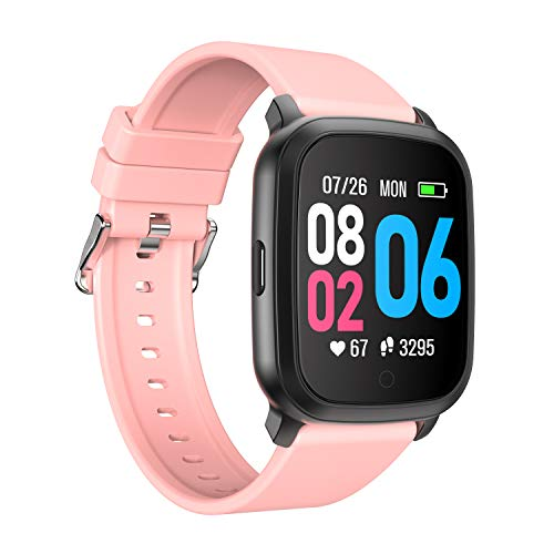 YoYoFit Cube Smart Watch with Heart Rate, Fitness Tracker with Music Player Control,Sport Watch Wish 1.3' Touch Screen, Pedometer, Sleep Monitor and Step Counter Activity Tracker Women&Man