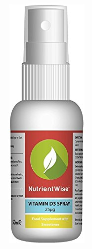 Spray De Vitamina D Nutrient Wise™ - Suplemento - Sabor Menta - 50ml