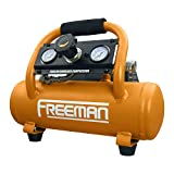 Freeman PE20V1GCK 1 Gallon 20 Volt MAX Cordless 1/3 HP Portable Electric Oil-Free Air Compressor Kit with Rechargeable 4 Ah Lithium-Ion Battery and Quick Charger