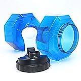 Agua Rellenable Pesas Conjunto, Mancuerna Ajustable Conjunto, Equipo De Gimnasio En Casa Para Famaily, 2,5 Kg De Peso Máximo,Azul,2.2l