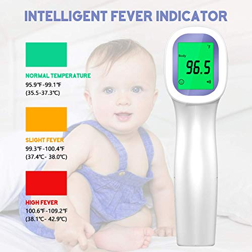 Thermometer-for-Adults-and-Baby-Forehead-Digital-Non-Contact-Infrared-Thermometer-with-Instant-Accurate-Reading-and-Fever-Alarm-Memory-Recall-for-Kids-Infant-Indoor-and-Outdoor-Use