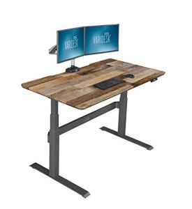 VARIDESK - Full Electric Desk - PRODESK 60 Electric Reclaimed Wood - 3-Button Memory Settings