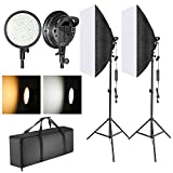 Neewer LED Softbox Lighting Kit: 20x28 inches Softbox, 48W Dimmable 2-Color Temperature LED Light Head with Battery Compartment and Light Stand for Indoor/Outdoor Photography (Battery Not Included)