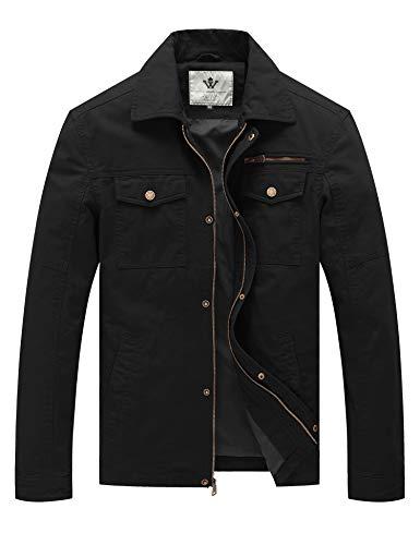 WenVen Men's Fashion Field Cotton Lined Sportswear Jackets...