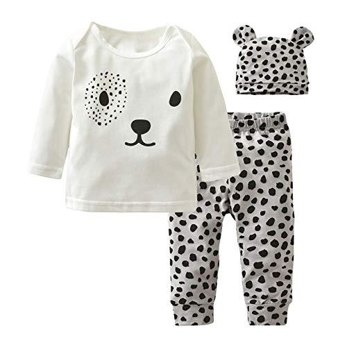 Baby Boys Girls Clothes Long Sleeve Leopard T-Shirt Pants...