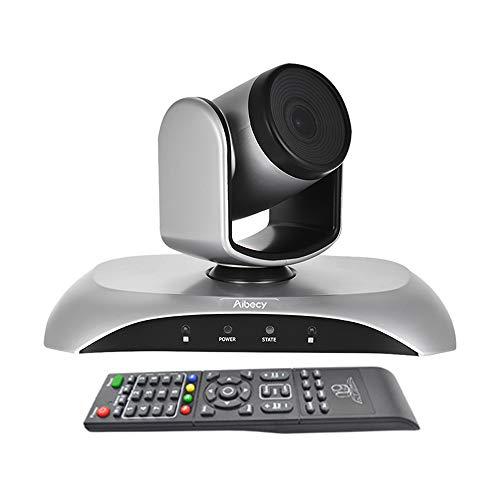 Aibecy webカメラ ウェブカメラ 3倍光学ズーム 1080P 210万画素 会議用 ウェブビデオカメラ リモコン付き