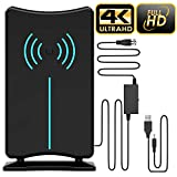 [Updated 2020 Version] Professional 150 Miles Amplified HD Digital TV Antenna, USA Patented Design, Support 4K 1080p Fire tv Stick and All Older TV's Indoor HDTV Local Channels All Type Television