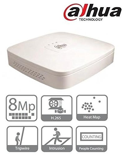 Dahua NVR4116-4KS2, Registratore di rete, 16 canali IP fino a 5Mp, 1U 4K e H.265 Lite Network, Bianco