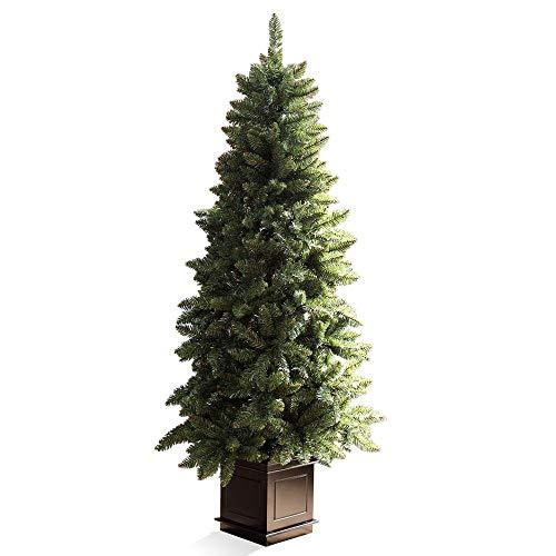 GROOVY OUTSTYLE クリスマスツリー ポットツリー 180cm ノエル ヌードツリー オーナメントなし スリム 木製...
