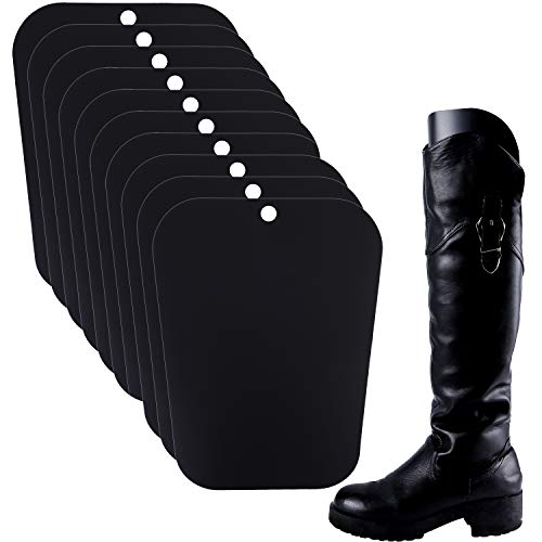Ruisita 5 Pairs (10 Sheets) Boot Shaper Form Inserts Boots Tall Support for Women and Men (12/14/16 inches, Black)