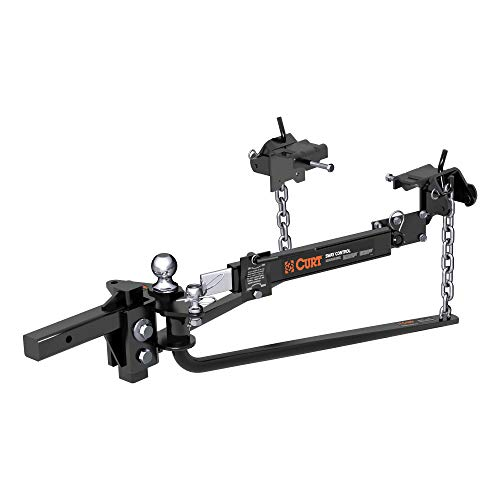 CURT 17062 Round Bar Weight Distribution Hitch with Integrated...