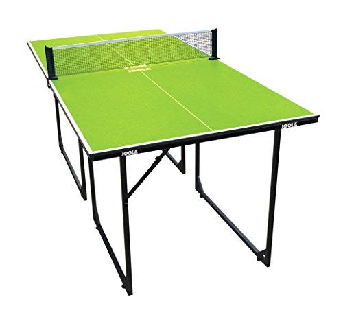 JOOLA Tischtennistisch MIDSIZE - Indoor Tischtennisplatte Freizeittisch Inklusive Tischtennisnetz-22 KG, grün, 168 x 84 x 76 cm