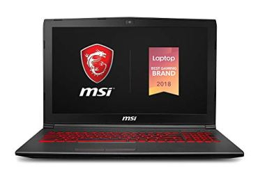 MSI GV62 8RD-275 15.6' Performance Gaming Laptop NVIDIA GTX 1050Ti 4G, Intel Core i5-8300H, 8GB, 256GB NVMe SSD, Red Backlit KB, Win 10 Home, Aluminum Black