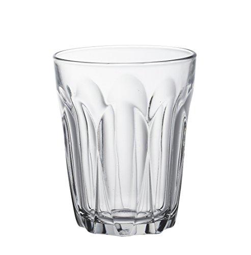 Duralex Provence bicchiere da acqua 220ml, senza contrassegno di riempimento, 6 bicchiere