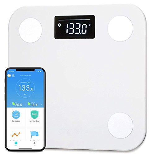 YUNMAI Smart Scale, Body Fat Scale with Free APP Body Composition BMI Monitor Analyzer with Large Display, Work with iPhone 8/iPhone X(10)