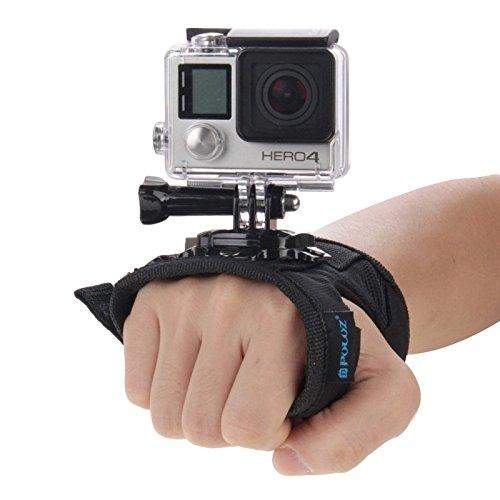 PULUZ 360 gradi di rotazione guanto stile cinghia da polso di montaggio a mano palma cintura cordino titolare con vite per GoPro HERO5/4 Sessione 5/4/3+/3/2/1, Xiaomi Yi Action Sport Outdoor Camera