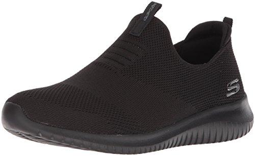 Skechers Ultra Flex-First Take, Zapatillas sin Cordones Mujer, Negro (BBK Black Knit Mesh/Trim), 38 EU
