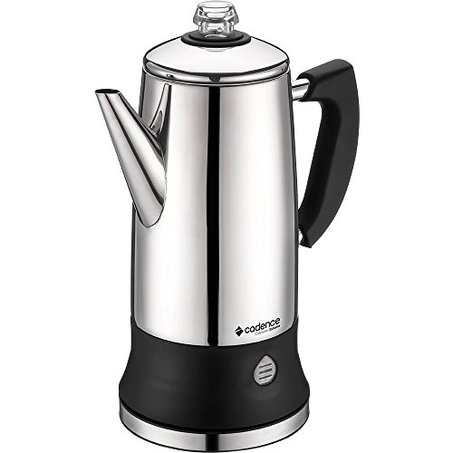 Cadence CAF104-127 - Italian Electric Coffee Maker, Stainless