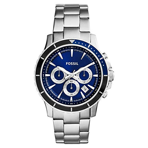 Fossil Herren Chronograph Quarz Uhr mit Edelstahl Armband CH2927