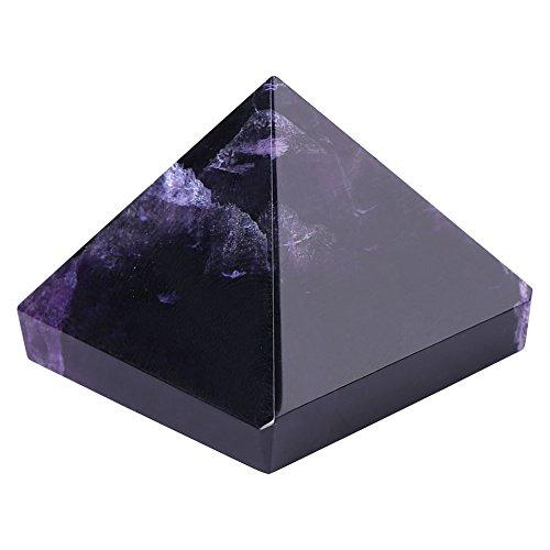 Pirámide de Amatista Estatuilla de Amatista de Púrpura de Pirámide de Cristal Regalo de Cumpleaños Navidad Artesanías de Feng Shui