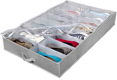 Extra-Large Under Bed Shoe Storage Organizer - Underbed Storage...