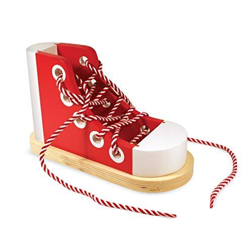 Melissa & Doug - Zapato de Madera para amarrar (13018)