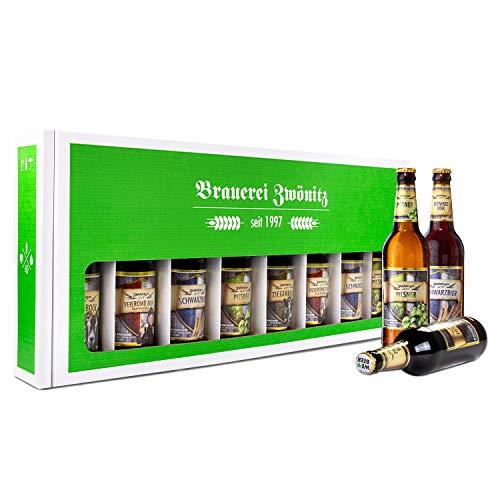Brauerei Zwönitz Männerhandtasche Bier/Bier Geschenke mit 8 Bieren/Männer Handtasche als...