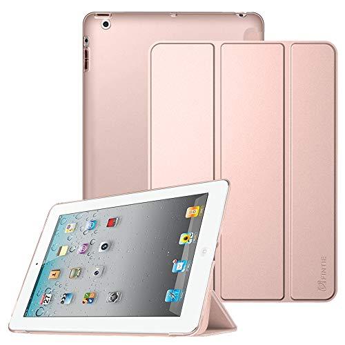 FINTIE Cover per iPad 2/3/4 - Ultra Sottile del Basamento Leggero Semi-Trasparente Custodia Case con Auto Sveglia/Funzione per iPad 2 / iPad 3 / iPad 4 Retina, Oro rosa