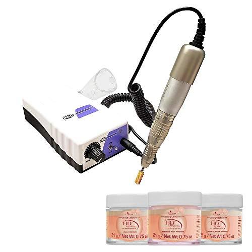 Medicool Pro Power 520 Electric Lightweight High Speed Nail File System + EZ Flow Acrylic Powder Bundle   PROPOW-520+ezflow