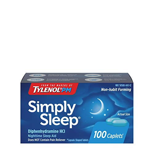Simply Sleep Nighttime Sleep Aid Caplets with 25 mg