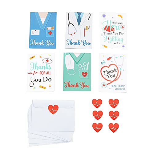 12pc Thank You Cards for Nurses,Medical Healthcare Workers...