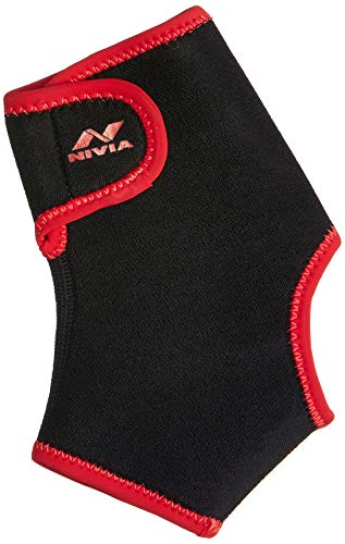 Nivia Orthopedic Ankle Support With Adjustable Velcro( Large, Black)