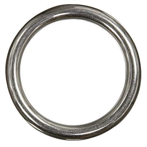 1 Stück Ring 10 x 60 mm geschweißt, poliert - Edelstahl A4