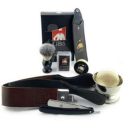 GBS Shave Ready Straight Razor Shaving and Beard Grooming Kit - 6/8
