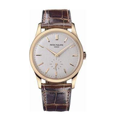 Patek Philippe Calatrava Automatic White Dial 18 kt Rose Gold Mens Watch 5196R