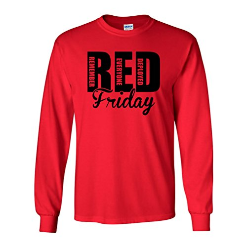 RED Friday Remember Everyone Deployed Long Sleeve T-Shirt