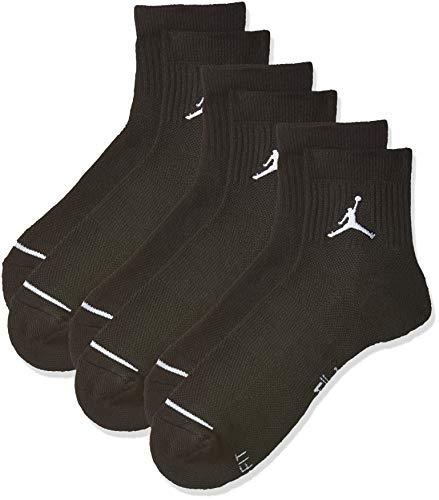 Nike U J Everyday Max ANKL 3PR, Calzini Uomo, Black/Black/Black, M