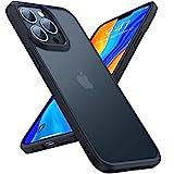 TORRAS 半透明 iPhone 13 Pro 用 ケース 耐衝撃 米軍MIL規格取得 マット感 ストラップホール付……