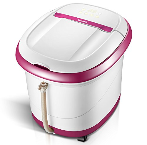 Carepeutic Touch Screen Oxy-Energized Water Jet Foot & Leg Spa Massager, Purple/White, 16 Lb